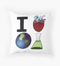 I Love Earth Science Throw Pillow