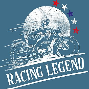 Vintage Motorcycle Racer-Racing Legend. by broadmeadow