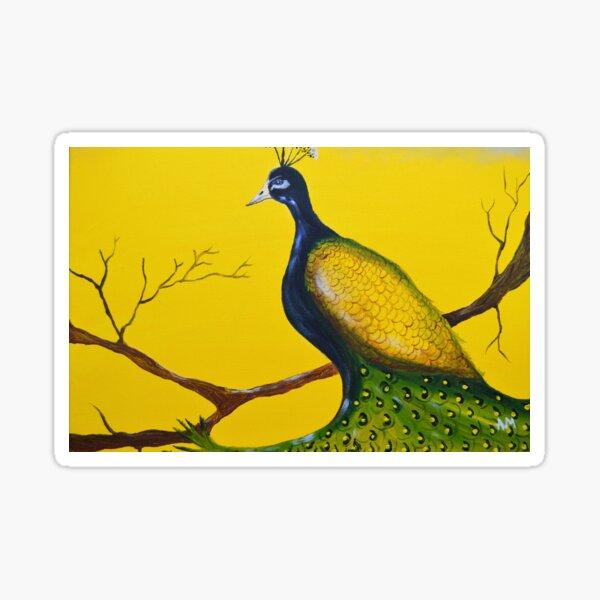 Petulant Peacock  Sticker