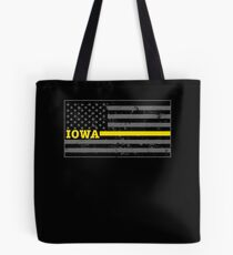 Iowa Police Dispatcher Shirt Thin Gold Line Shirt Tote Bag
