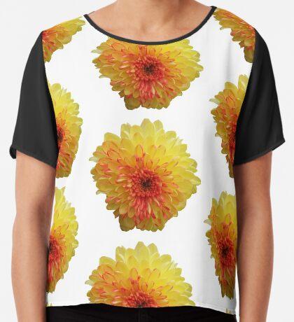 tolle Sommer Blume in den Farbven gelb und rot Chiffontop