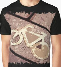 Cycle path Polygon Art Graphic T-Shirt