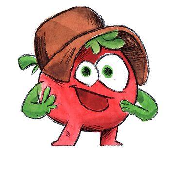 Tomato Cartoon Design  by Shirteesy