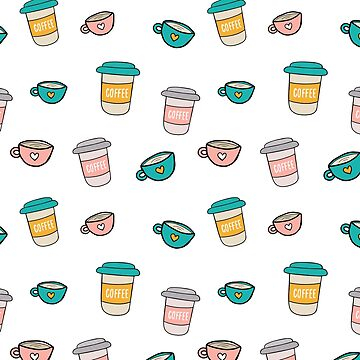 Happy coffee cups and mugs by bigmoments