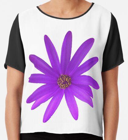 schöne Sommer Blume in der Farbe violett, lila, Blüte Chiffontop für Frauen