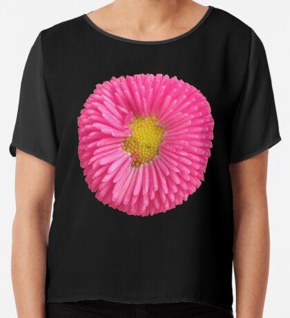 eine tolle Sommer Blume in der Farbe pink, rosa,  Chiffontop für Frauen