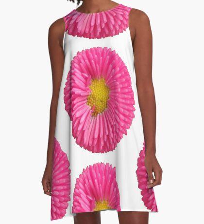 eine tolle Sommer Blume in der Farbe pink, rosa,  A-Linien Kleid