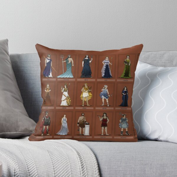 Gods of Ancient Greece Throw Pillow