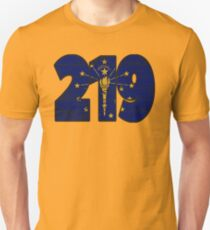 LOVE THAT  219 LIFE - YOUR FAVORITE AREA CODE WITH A HEAVY WOOD OVERLAY DISTRESS Unisex T-Shirt