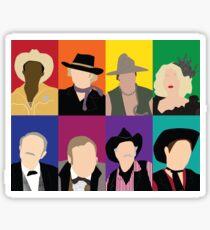 Blazing Saddles characters Sticker
