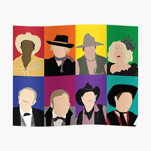 Blazing Saddles characters Poster