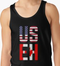 USEH America Canada Flag Funny American Canadian Tank Top