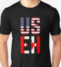 USEH America Canada Flag Funny American Canadian Unisex T-Shirt