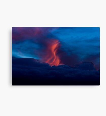 Clouds on Fire Canvas Print