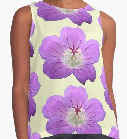eine wunderschöne Blume in violett, lila, Sommer Kontrast Top