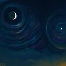 Venus and the Moon go Dancing in June by Brad Collins