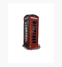 English / London telephone booth Photographic Print
