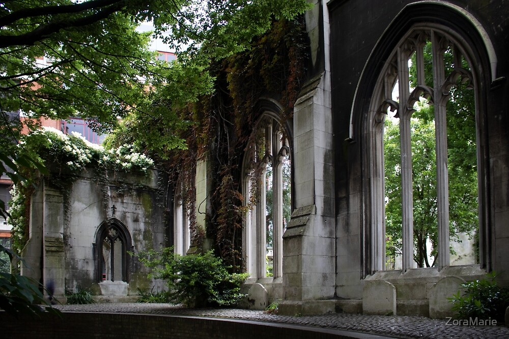 St. Dunstan in the East by ZoraMarie