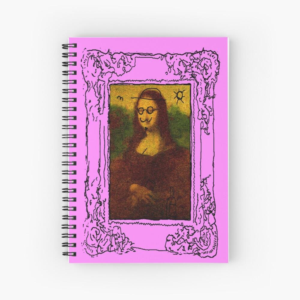 Mona Lisa Defaced  Spiral Notebook