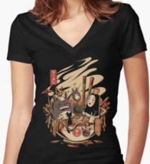Ramen pool party Fitted V-Neck T-Shirt