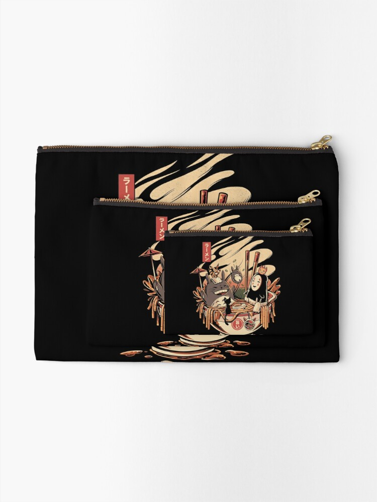 Alternate view of Ramen pool party Zipper Pouch