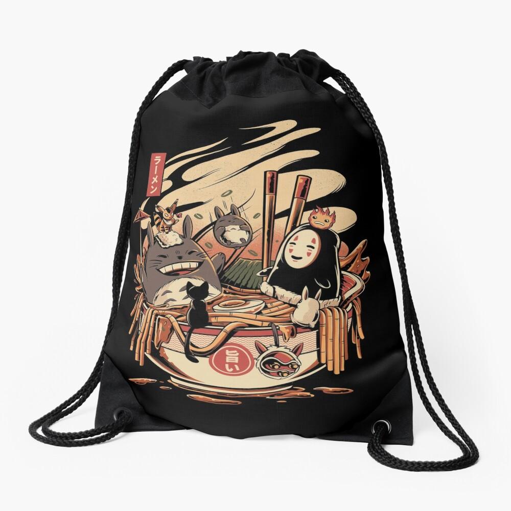 Ramen pool party Drawstring Bag