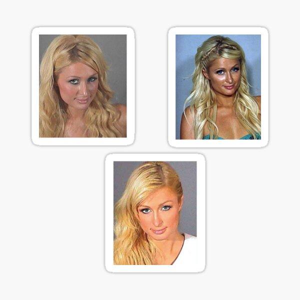 Paris Hilton Mugshots Sticker