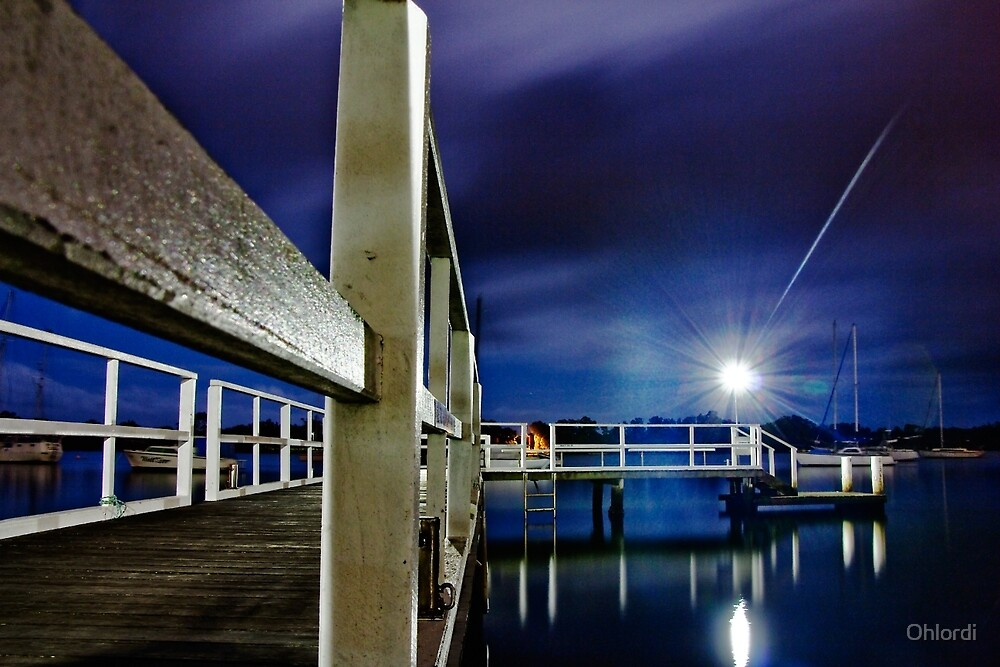 Jetty on Hastings River by Ohlordi
