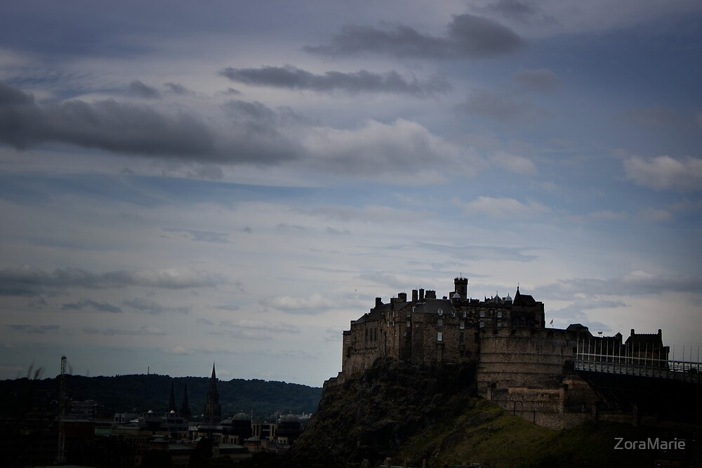 Castle on an... Extinct Volcanic Cliff? Yep, sounds just like the Scots by ZoraMarie