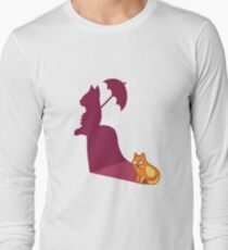 Funny Cat Lady Tshirt - Cat Gifts for Crazy Cat Lovers Long Sleeve T-Shirt