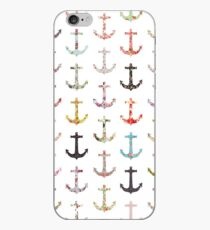 bce32dcacf28a4 Vintage retro sailor girly floral nautical anchors iPhone Case