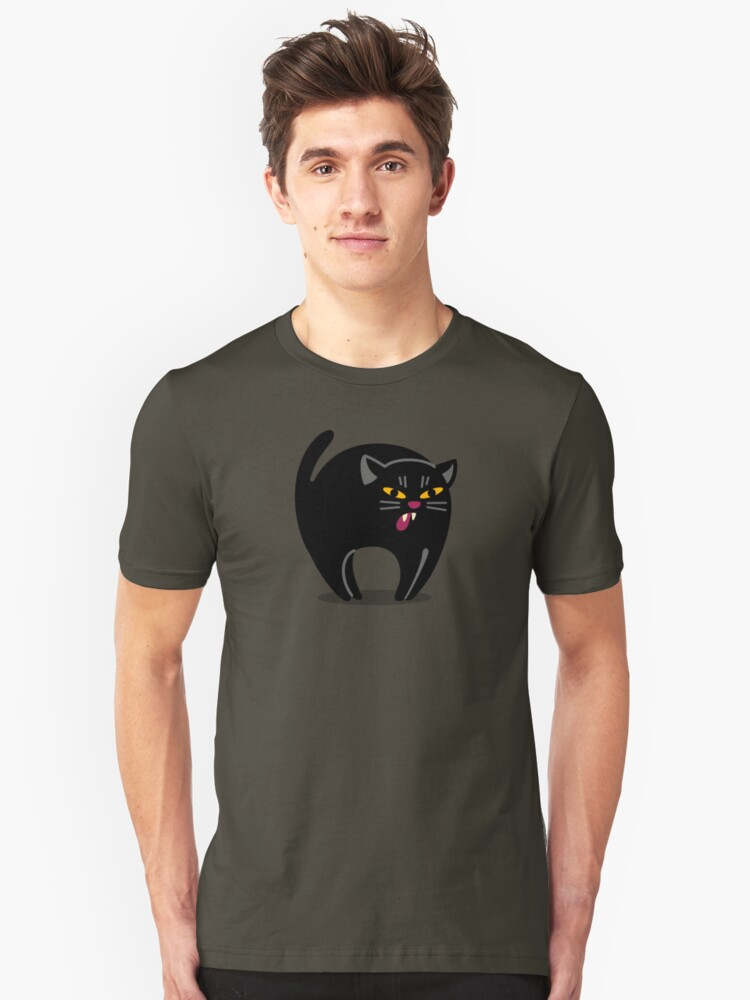Alternate view of The Hissy Cat! Slim Fit T-Shirt