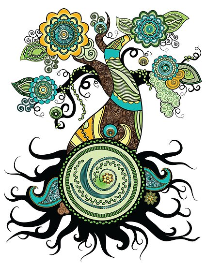 Henna Tree Posters By Serena King Redbubble