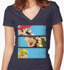 The good the Bad and the Princess Women's Fitted V-Neck T-Shirt