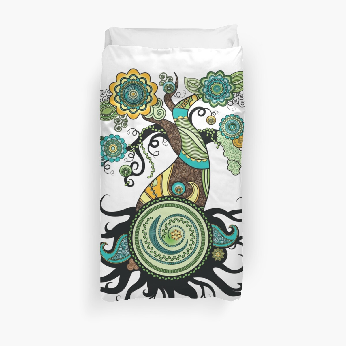 Henna Tree Duvet Covers By Serena King Redbubble