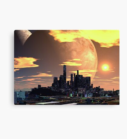 City on the Hill Canvas Print