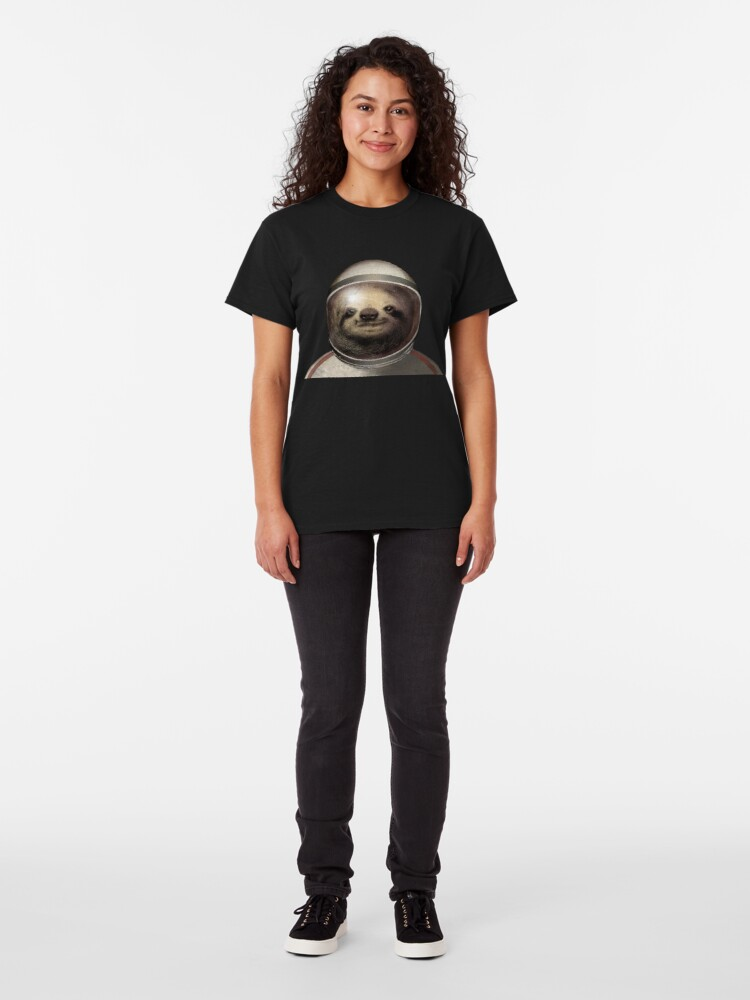 Alternate view of Space Sloth Classic T-Shirt