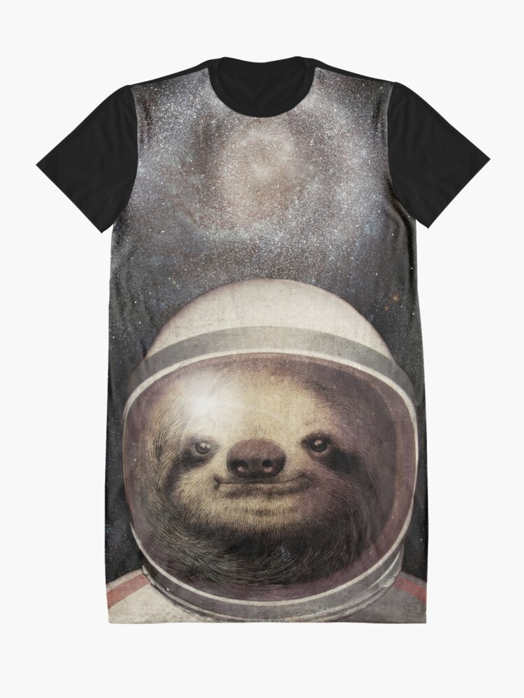 Alternate view of Space Sloth Graphic T-Shirt Dress