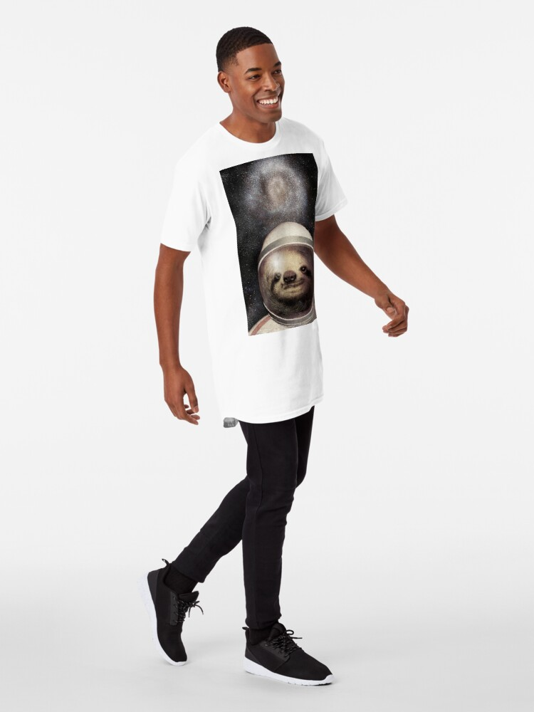 Alternate view of Space Sloth Long T-Shirt