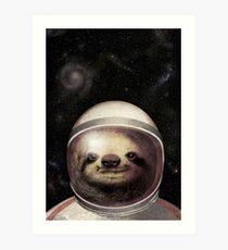 Weltraumfaultier Kunstdruck