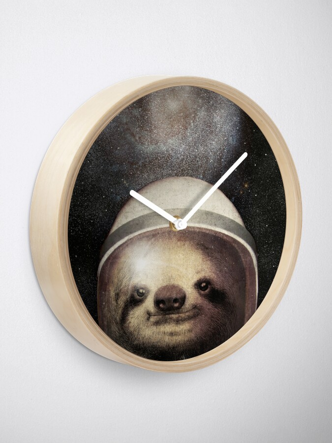 Alternate view of Space Sloth Clock