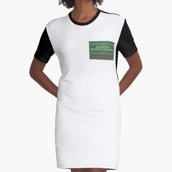 Delightful Delicious Delovely Graphic T-Shirt Dress