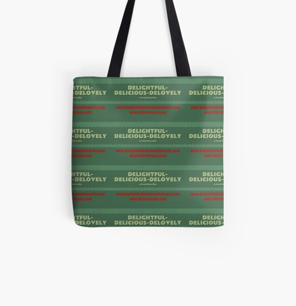 Delightful Delicious Delovely All Over Print Tote Bag