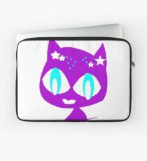 Purple kitten vetor art Laptop Sleeve