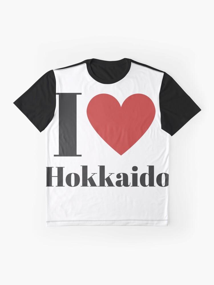 Alternate view of I Love Hokkaido (English) Graphic T-Shirt