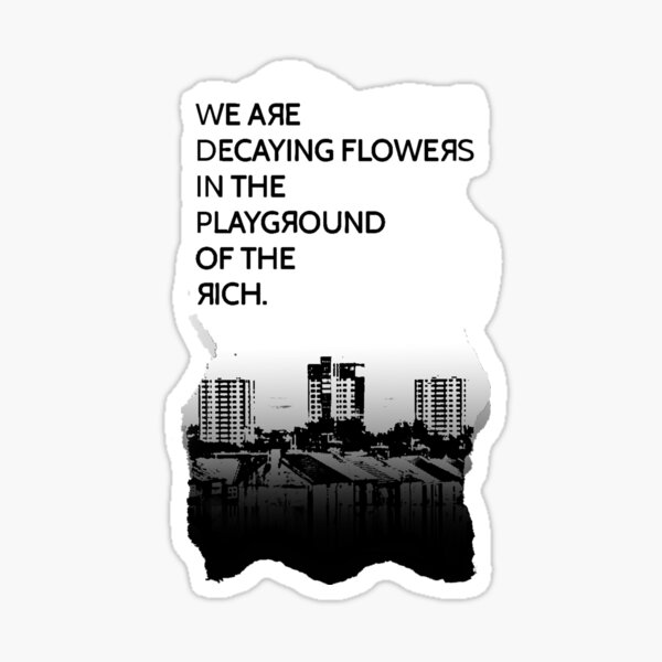 DECAYING FLOWERS  Sticker