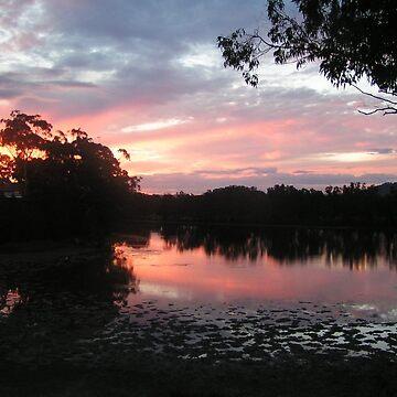 Sunset Over Deep Creek by artbyjanelucas