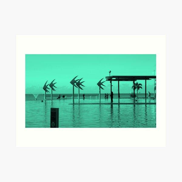 Cairns Esplanade - Blue Lagoon Art Print