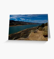 Horsetooth Resevoir in Spring Greeting Card