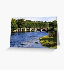 Castle Bridge, Buncrana Greeting Card